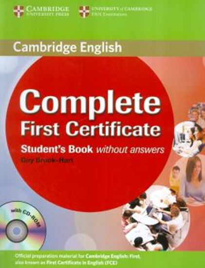 Picture of COMPLETE FIRST CERTIFICATE SB W CD ROM