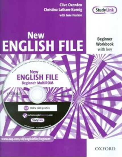 Picture of NEW ENGLISH FILE BEGINNER WORKBOOK - WITH ANSWER BOOKLET AND MULTI-ROM