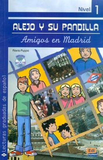 Picture of ALEJO Y SU PANDILLA A1-A2 LIBRO 1: EN MADRID (INCLUYE CD)