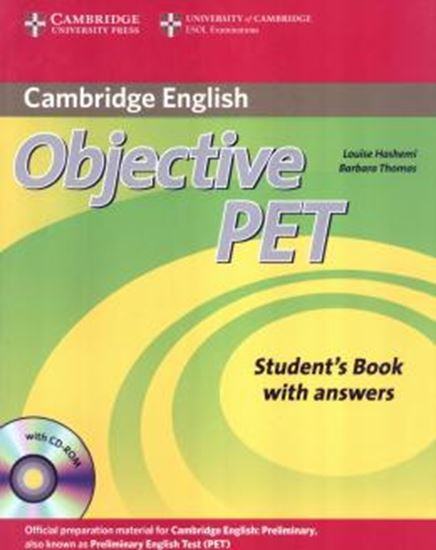Picture of OBJECTIVE PET SB - WITH ANSWERS AND CD-ROM - 2ND ED