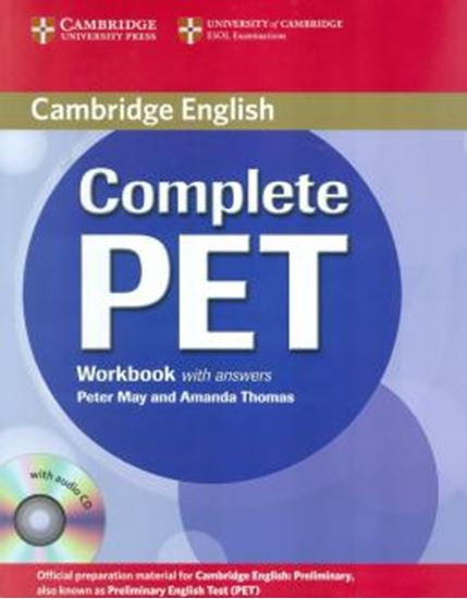 Picture of COMPLETE PET WORKBOOK WITH ANSWERS AND AUDIO CD