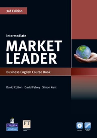 Picture of MARKET LEADER INTERMEDIATE STUDENT BOOK WITH DVD-ROM  AND MYENGLISHLAB - 3RD ED