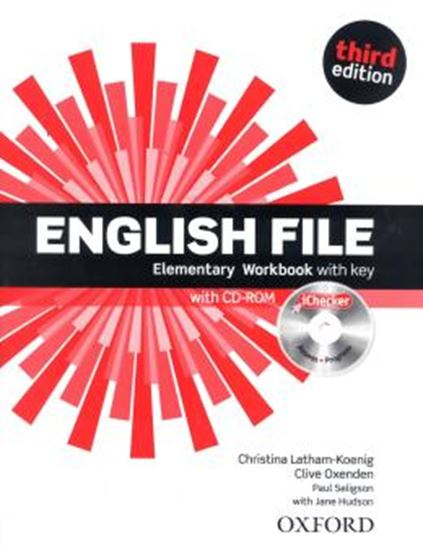 Picture of ENGLISH FILE ELEMENTARY WB WITH KEY AND ICHECKER 3ED