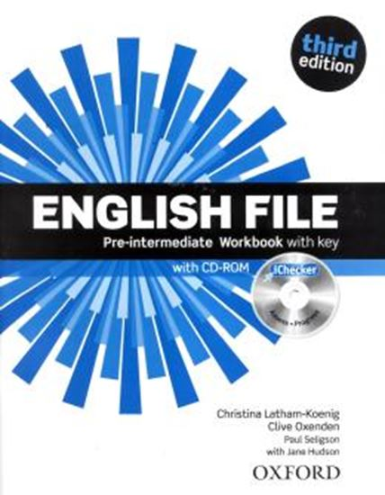 Picture of ENGLISH FILE PRE-INTERMEDIATE WB WITH KEY AND ICHECKER - 3RD ED