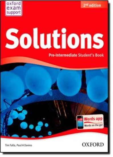Picture of SOLUTIONS PRE INTERMEDIATE STUDENT BOOK - SECOND EDITION