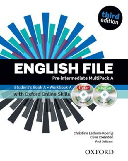 Picture of ENGLISH FILE PRE-INTERMEDIATE A MULTIPACK WITH ITUTOR AND ONLINE SKILLS - 3RD ED