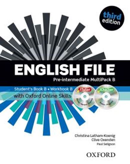 Picture of ENGLISH FILE PRE-INTERMEDIATE B MULTIPACK WITH ITUTOR AND ONLINE SKILL - 3RD ED