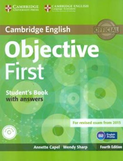 Picture of CAMBRIDGE ENGLISH OBJECTIVE FIRST SB WITH ANSWERS & CD-ROM - 4TH ED