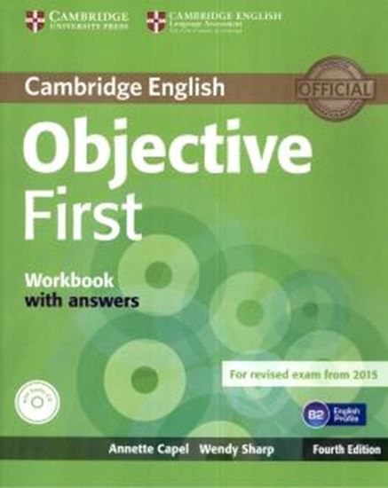 Picture of OBJECTIVE FIRST WORKBOOK WITH ANSWERS WITH AUDIO CD - 4TH ED