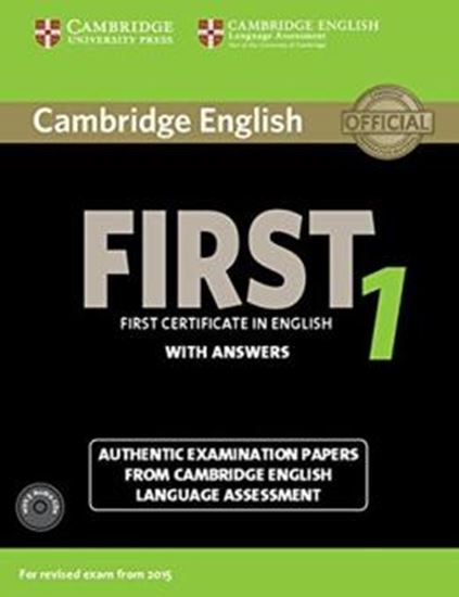 Picture of CAMBRIDGE ENGLISH FIRST 1 SB WITH ANSWERS AND AUDIO CD
