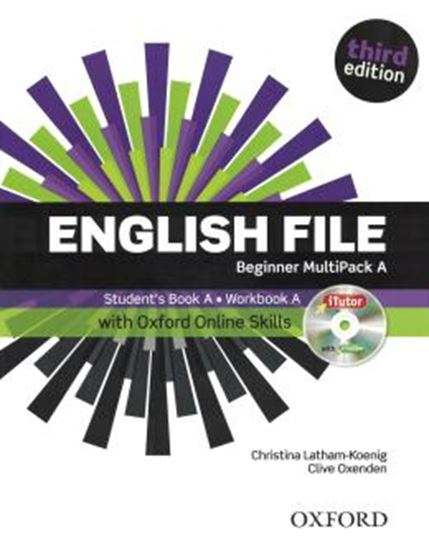 Picture of ENGLISH FILE BEGINNER MULTIPACK A WITH ITUTOR AND ONLINE SKILLS - 3RD ED