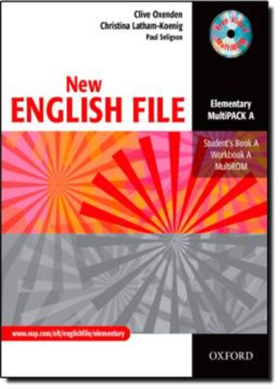 Picture of NEW ENGLISH FILE ELEMENTARY MULTIPACK A (STUDENT´S BOOK / WORKBOOK / MULTIROM)