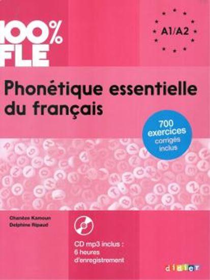 Picture of PHONETIQUE ESSENTIELLE DU FRANCAIS NIVEAU A1 A2 LIVRE + CD MP3