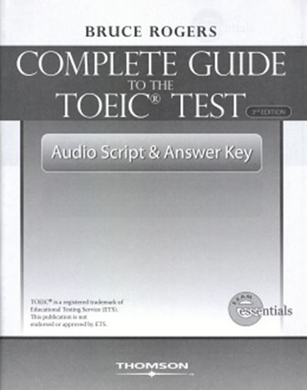Picture of COMPLETE GUIDE TO THE TOEIC  AUDIO SCRIPT & ANSWER KEY THIRD EDITION