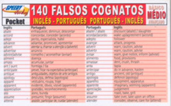 Picture of 140 FALSOS COGNATOS INGLES/PORTUGUES MEDIO