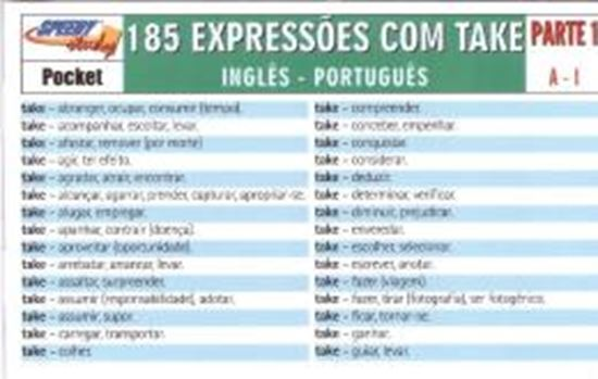 Picture of 185 TAKE EXPRESSIONS PARTE 1  A-I INGLES-PORTUGUES