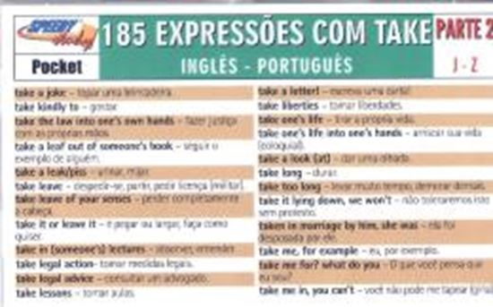 Picture of 185 TAKE EXPRESSIONS PARTE 2 J-Z INGLES-PORTUGUES