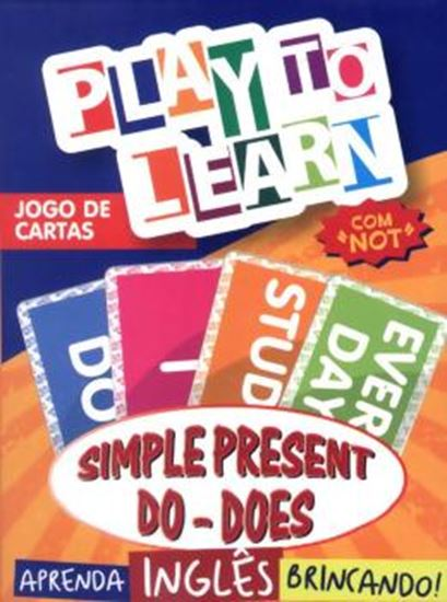 Picture of PLAY TO LEARN - JOGO DE CARTAS DO SIMPLE PRESENT