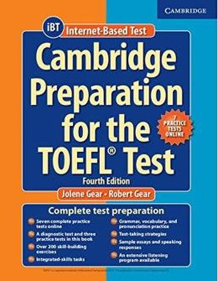 Picture of CAMBRIDGE PREPARATION TOEFL TEST SB WITH ONLINE PRACTICE TESTS AND AUDIO CDS (8) PACK - 4TH EDITION
