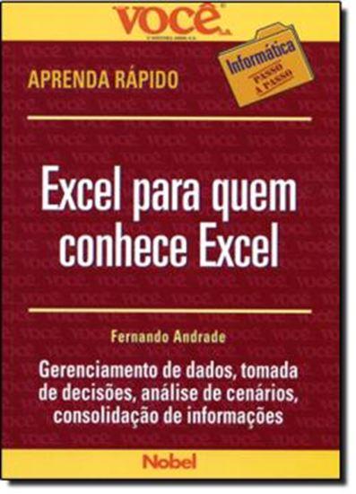 Picture of EXCEL PARA QUEM CONHECE EXCEL   VOCE S.A. INFORMATICA