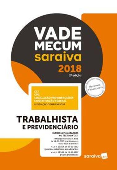 Picture of VADE MECUM SARAIVA 2018 - TRABALHISTA E PREVIDENCIARIO- 2ª ED