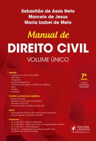 Picture of MANUAL DE DIREITO CIVIL - VOLUME UNICO
