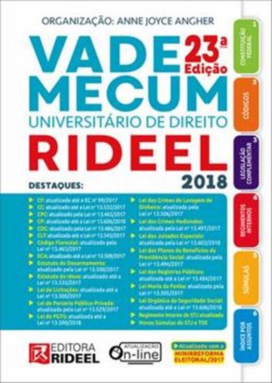 Picture of VADE MECUM UNIVERSITARIO DE DIREITO RIDEEL 2018 - 1º SEMESTRE - ESPIRAL - 23ª ED