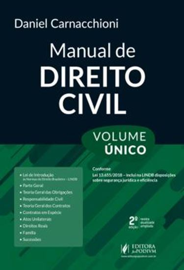 Picture of MANUAL DE DIREITO CIVIL - VOLUME UNICO - 2ª ED