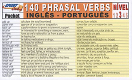 Picture of 140 PHRASAL VERBS INGLES/PORTUGUES NIVEL 3
