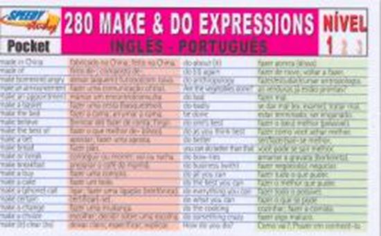 Picture of 280 MAKE AND DO EXPRESSIONS INGLES-PORTUGUES - NIVEL 1